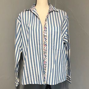 """VINTAGE """"Sportables"""" Striped Blouse with 🌸 Lining"""
